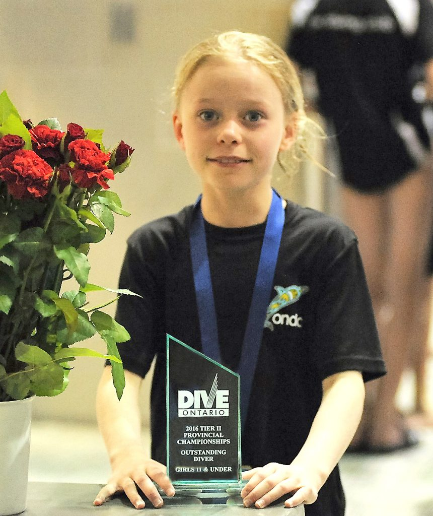 Audree Brazeau-Howes Outstanding Diver Award in Girls D